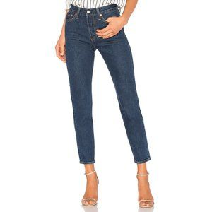 Levi's wedgie icon fit high rise button fly jeans